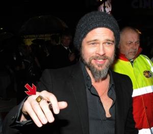 Brad Pitt Masonic Ring